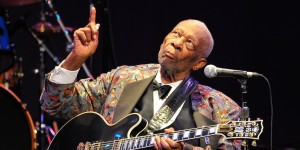 SAN RAFAEL, CA - FEBRUARY 26: B.B. King performs at Marin Center on February 26, 2014 in San Rafael, California. (Photo by Steve Jennings/WireImage)