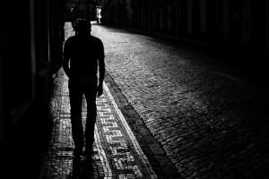 man-alone-at-night